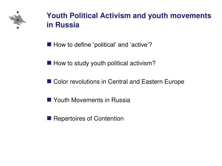 Youth political activism and youth movements in russia