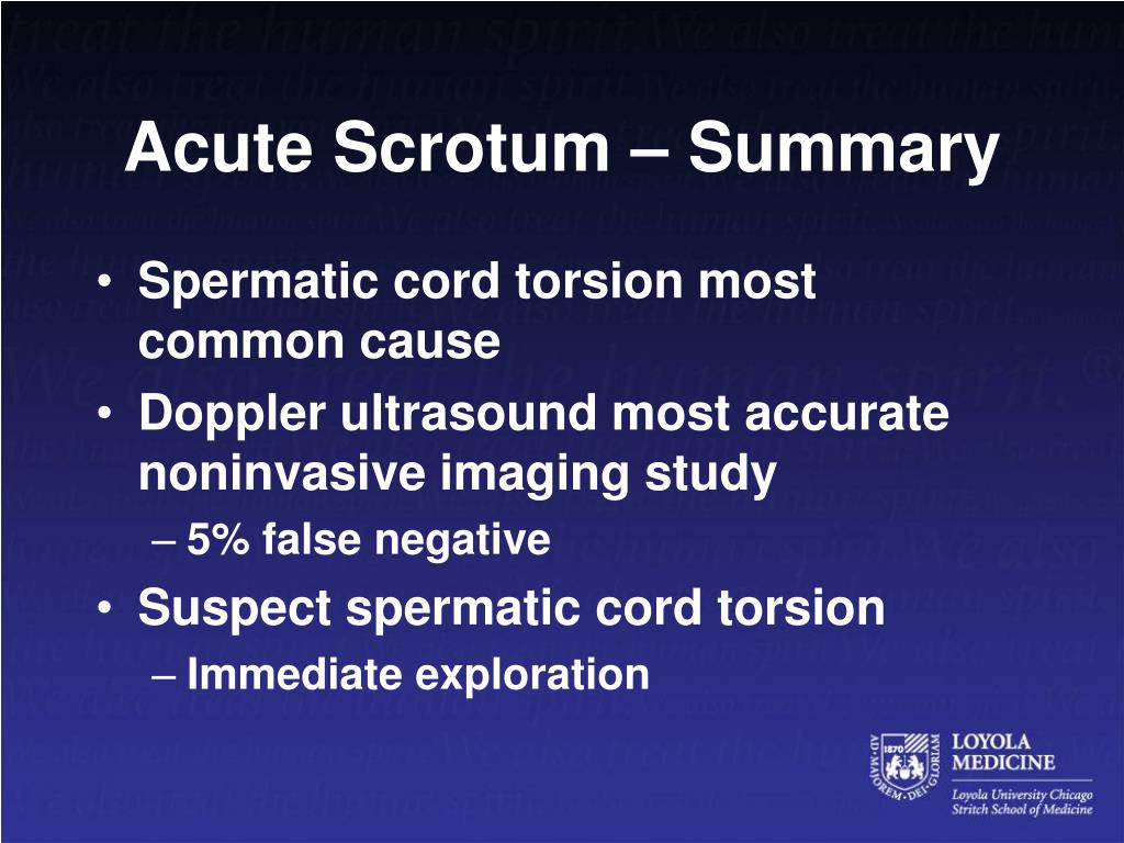 Acute Scrotum – Summary