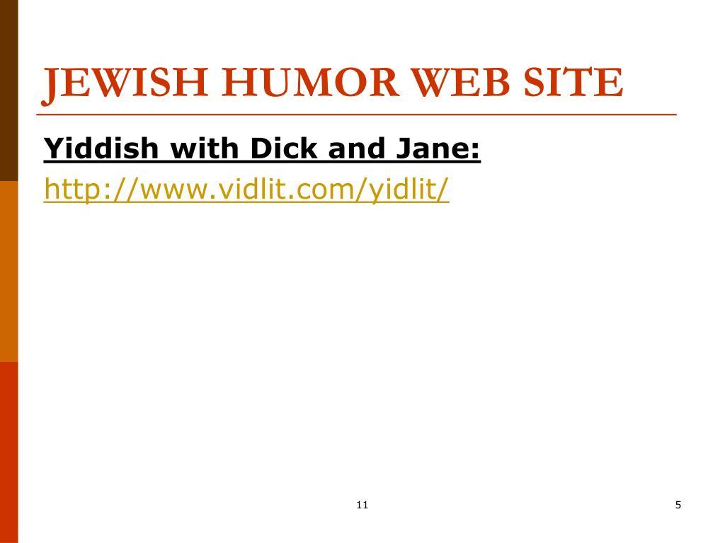 JEWISH HUMOR WEB SITE