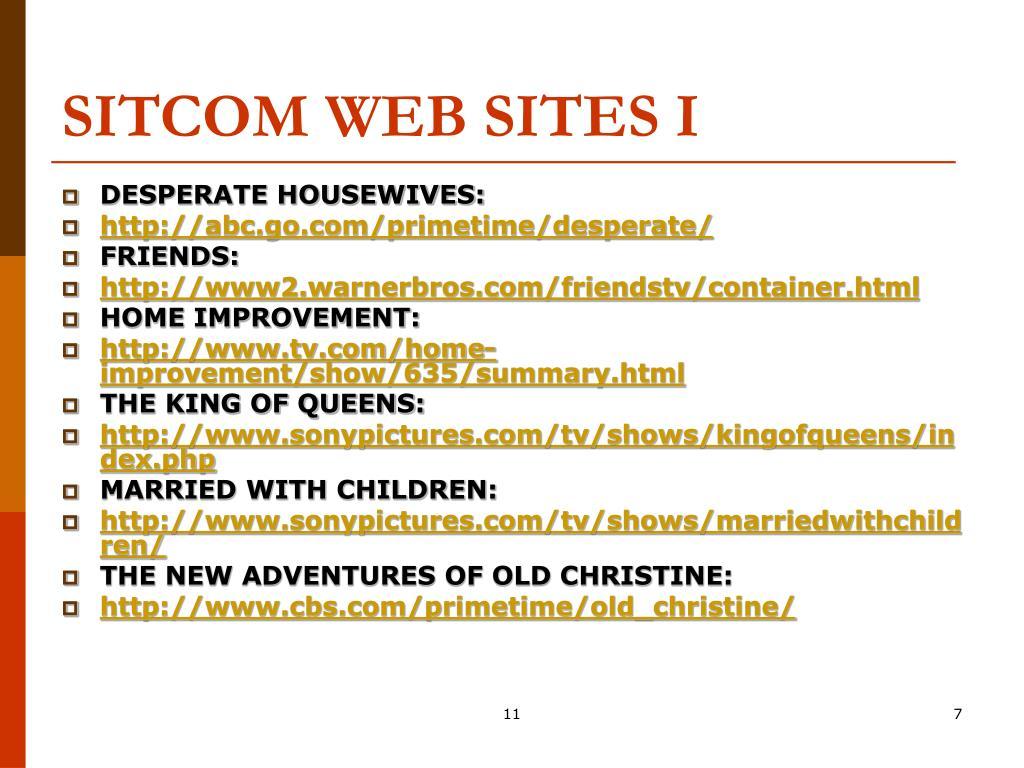 SITCOM WEB SITES I