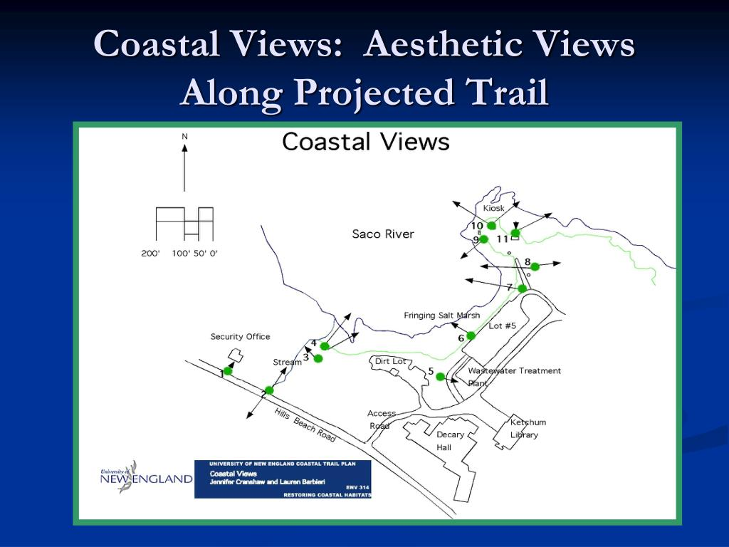 Coastal Views:  Aesthetic Views Along Projected Trail