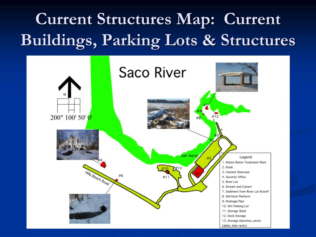 Current Structures Map:  Current Buildings, Parking Lots & Structures