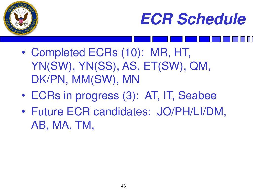ECR Schedule