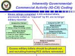inherently governmental commercial activity ig ca coding