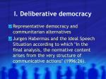 i deliberative democracy