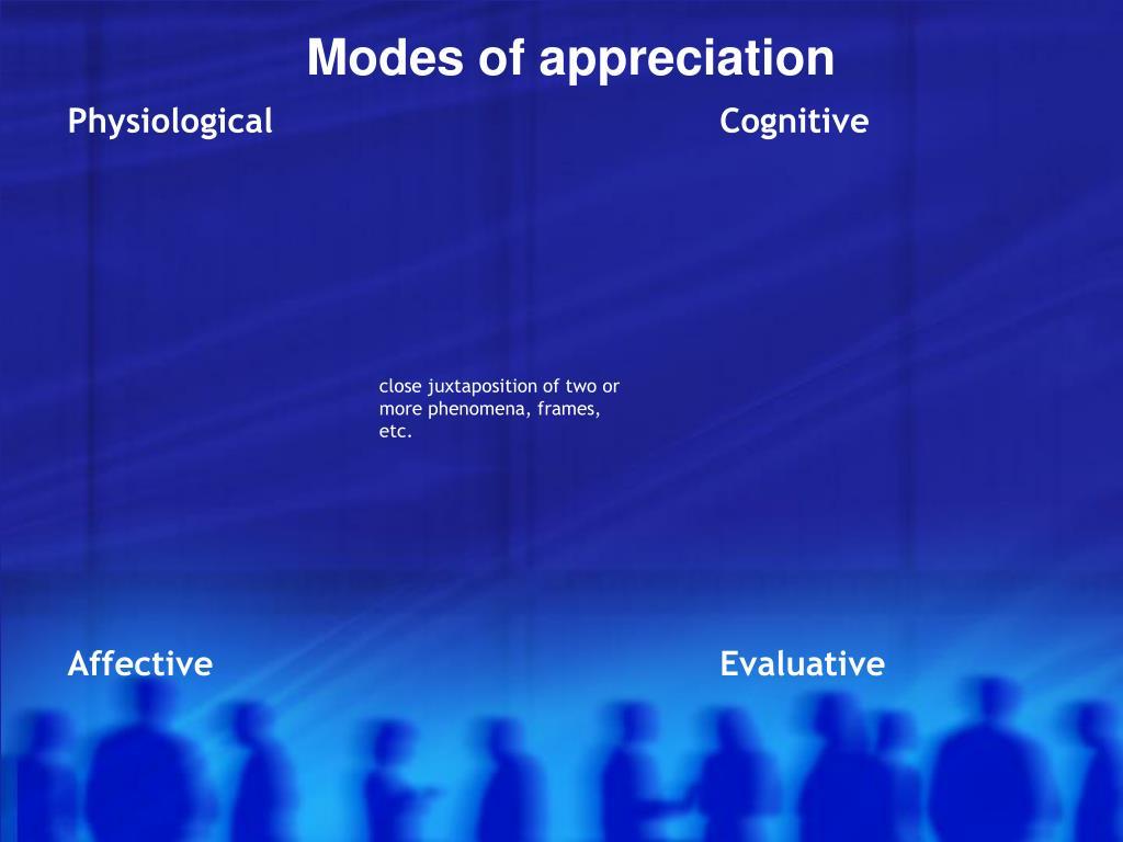 Modes of appreciation