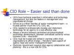 cio role easier said than done