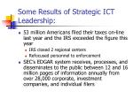 some results of strategic ict leadership