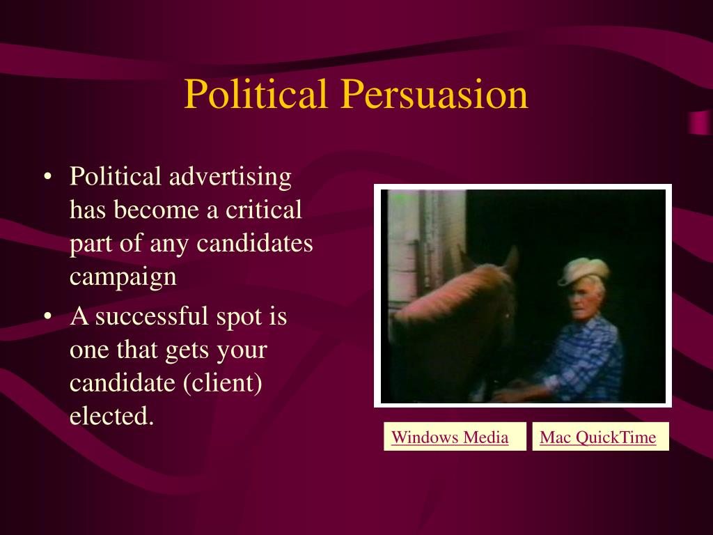 Political advertising has become a critical part of any candidates campaign