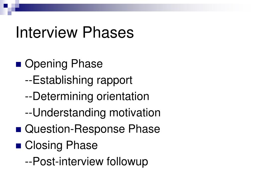 Interview Phases