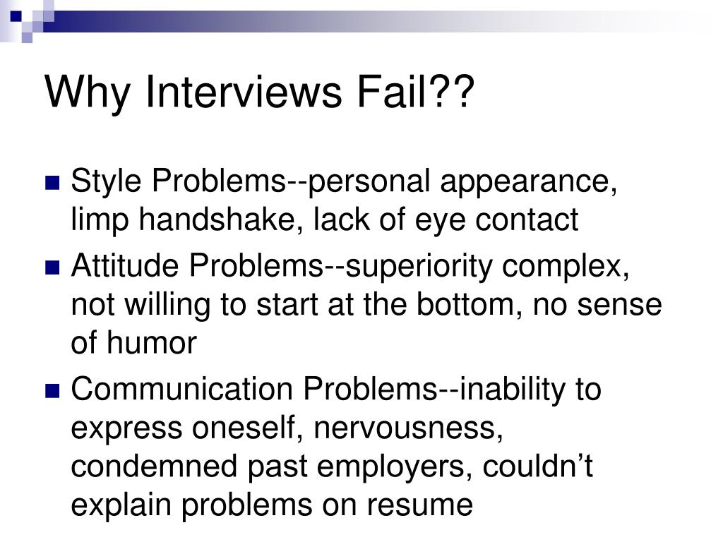 Why Interviews Fail??