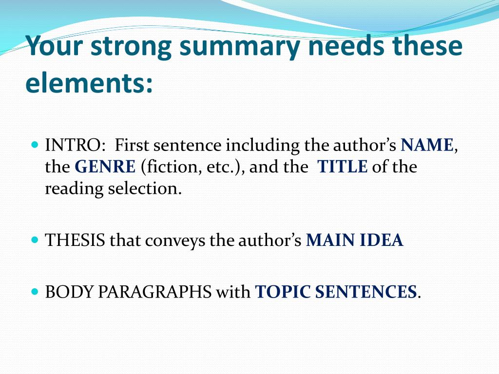 the elements of an essay usually appear in the following order Basic features and elements of an essay essay, in order to suggest the first of these reflections can come anywhere in an essay the second usually comes.
