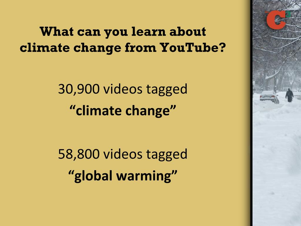 What can you learn about climate change from YouTube?