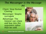 the messenger is the message 4