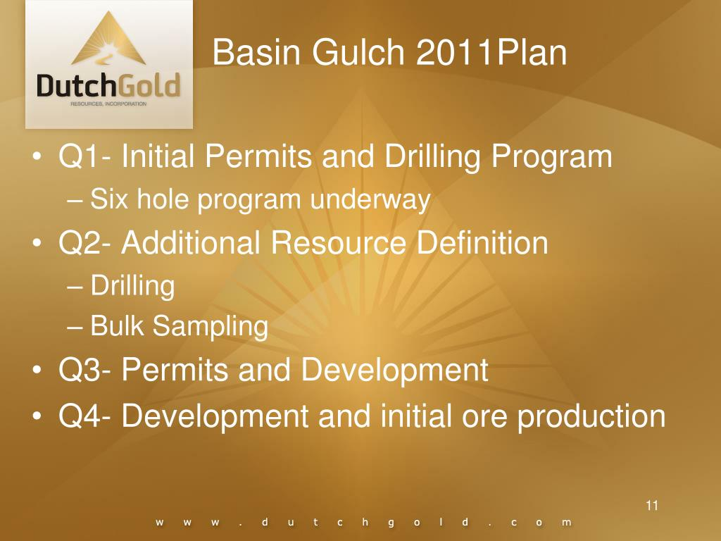 Basin Gulch 2011Plan
