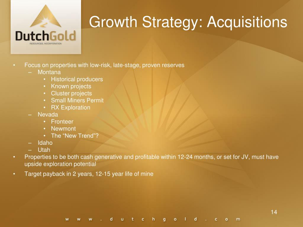 Growth Strategy: Acquisitions