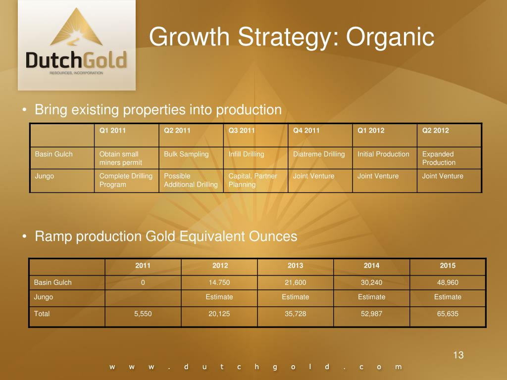 Growth Strategy: Organic