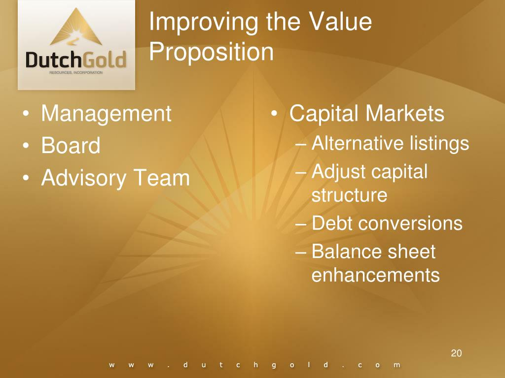 Improving the Value Proposition