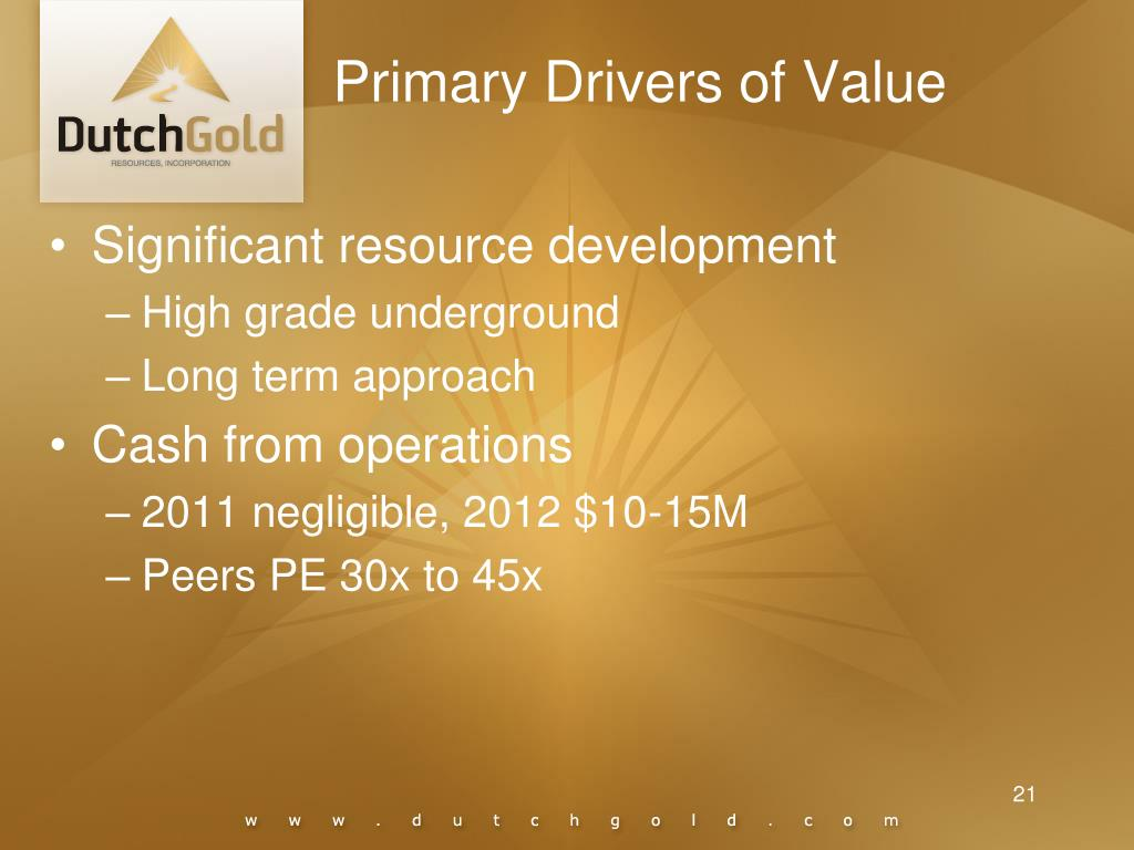 Primary Drivers of Value
