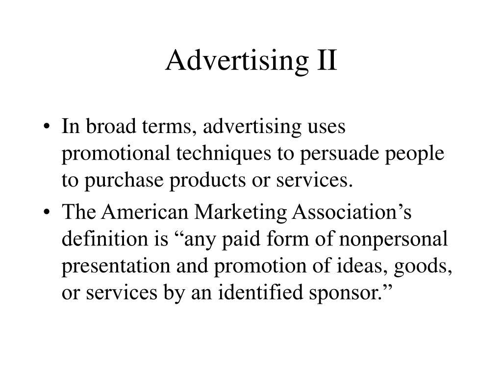 Advertising II