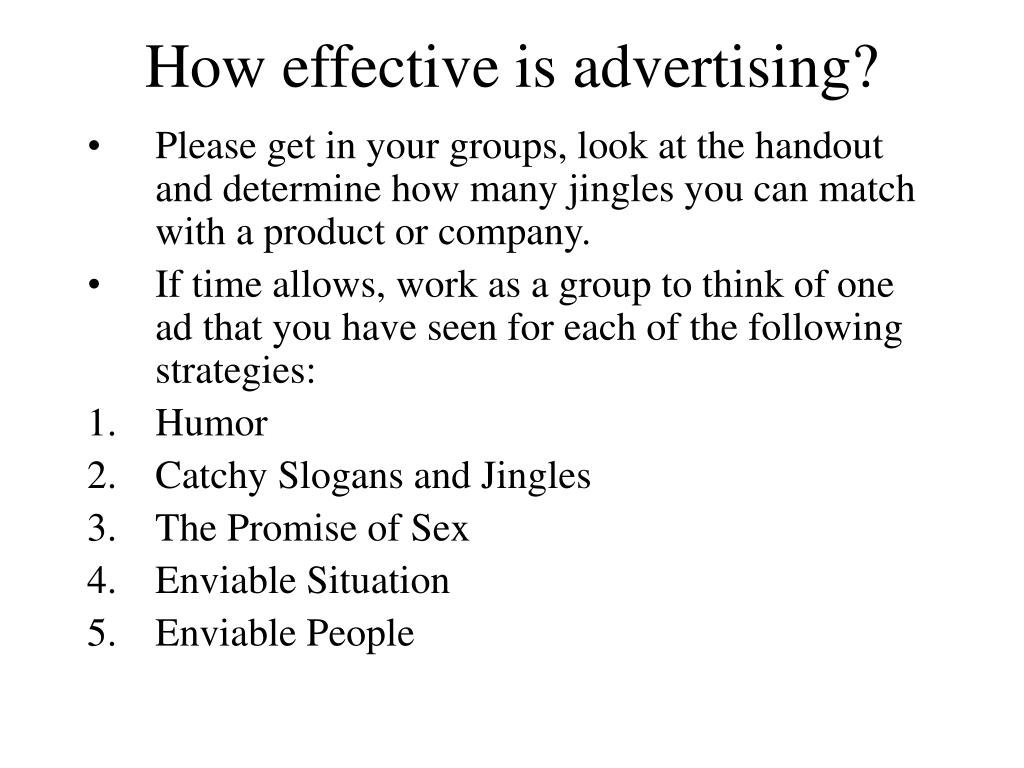 How effective is advertising?