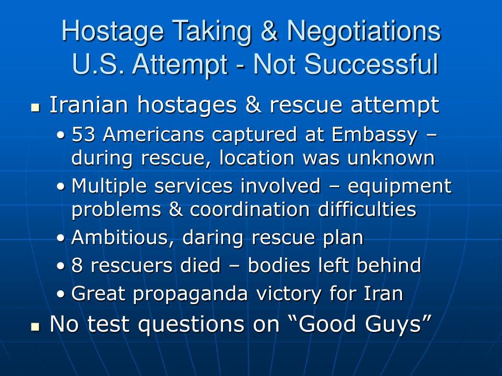 Hostage Taking & Negotiations