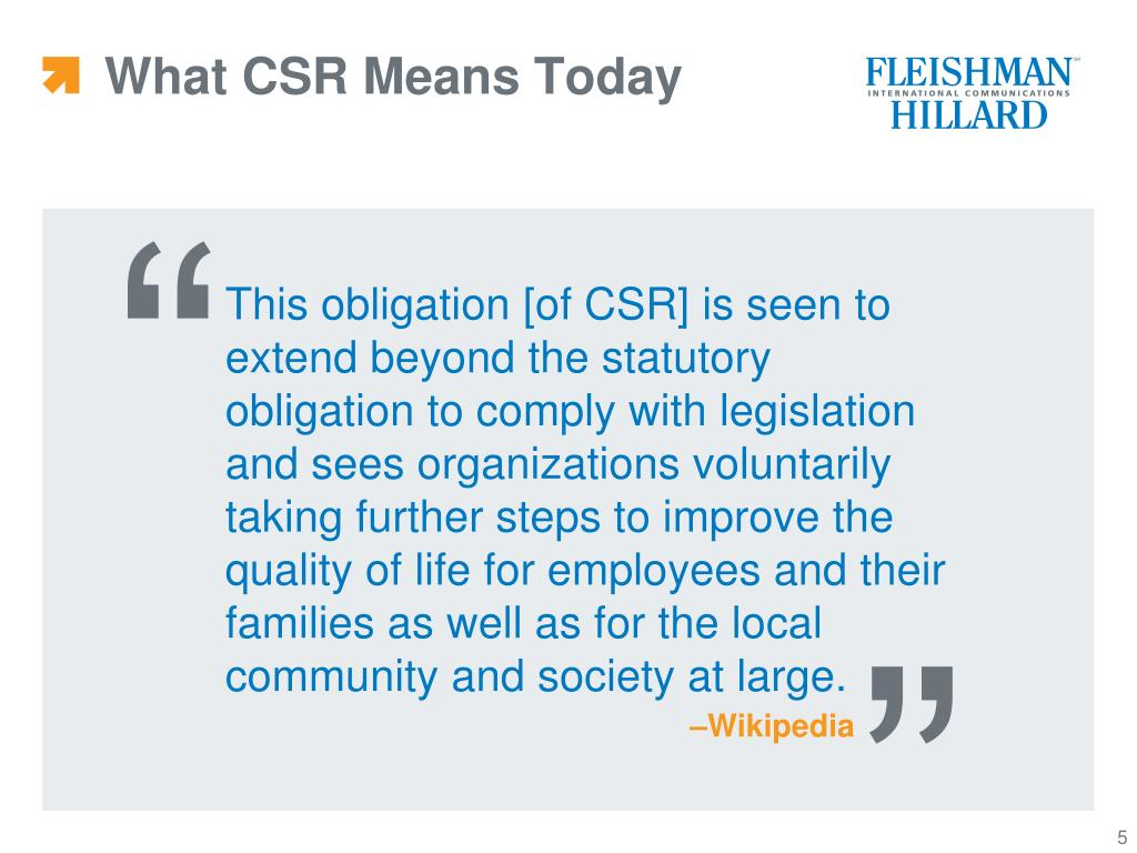 What CSR Means Today