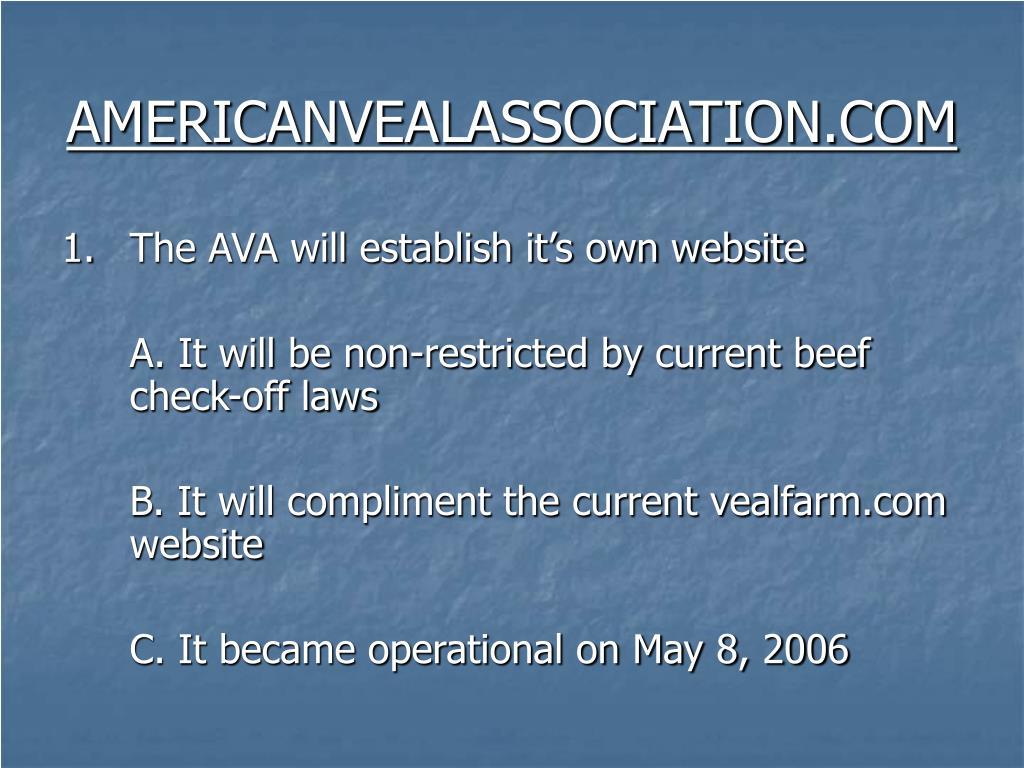 AMERICANVEALASSOCIATION.COM