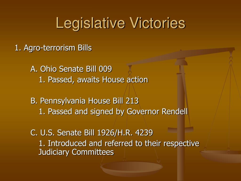 Legislative Victories