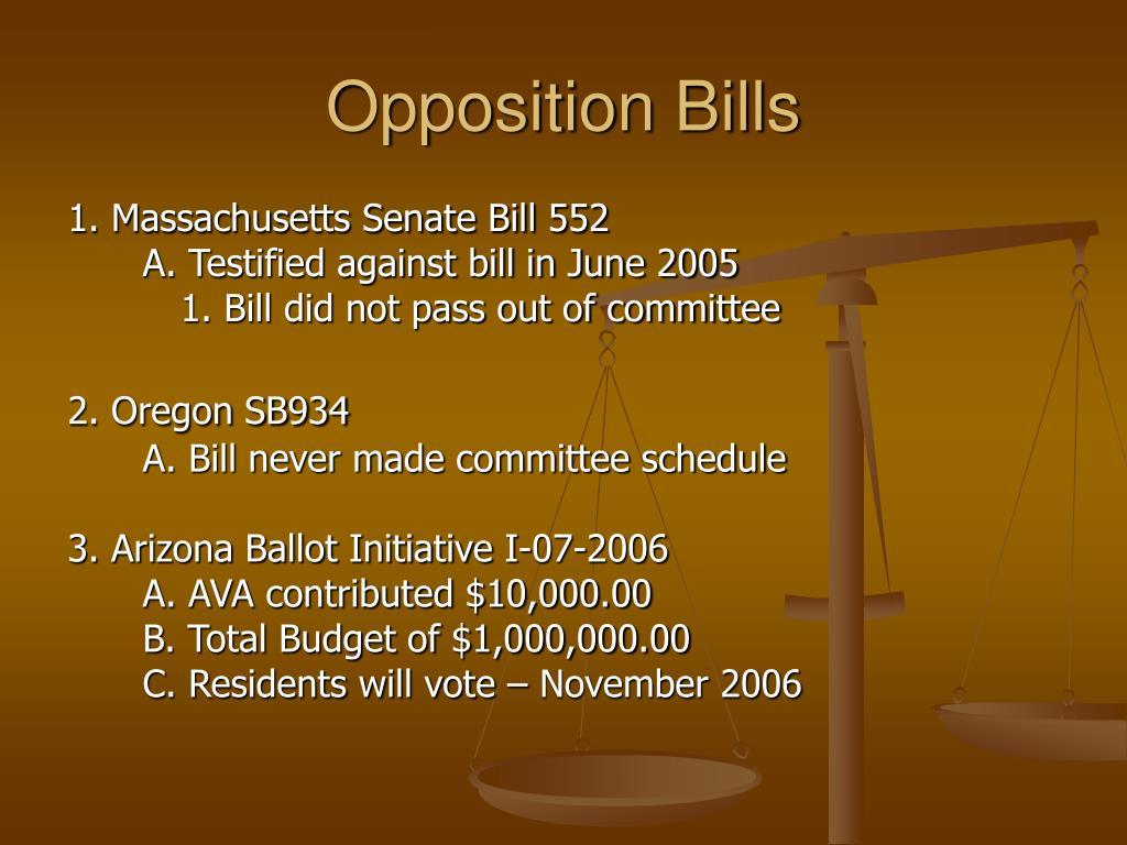Opposition Bills