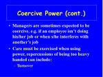 coercive power cont