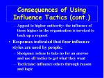 consequences of using influence tactics cont34