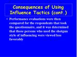 consequences of using influence tactics cont36