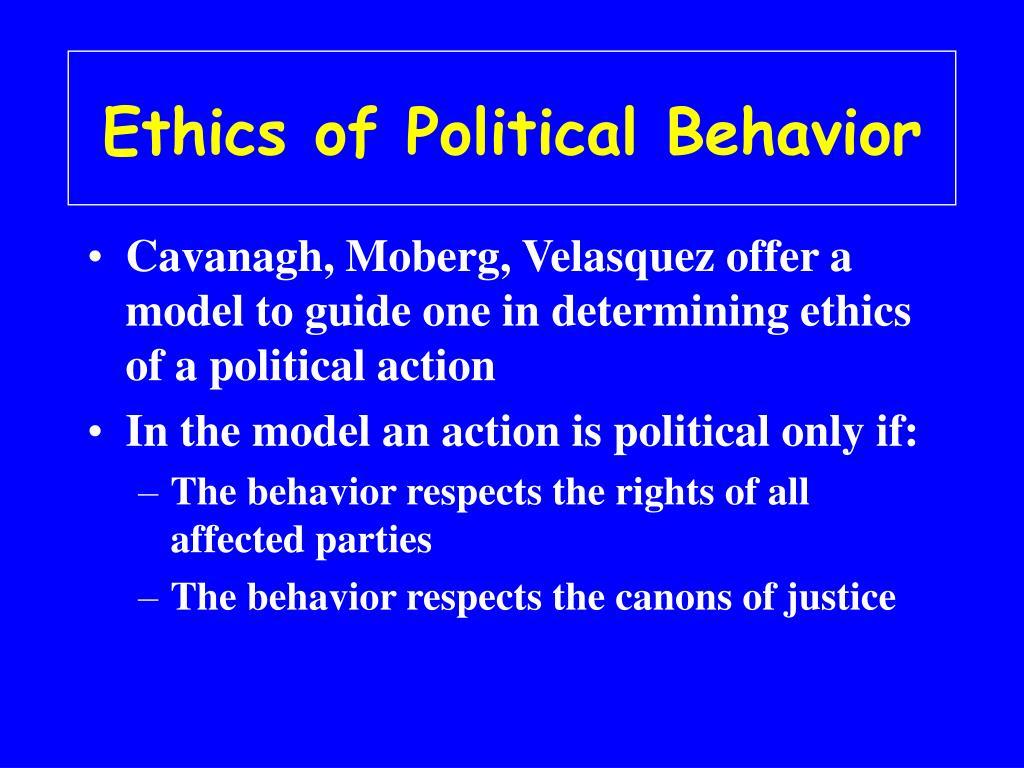 Ethics of Political Behavior