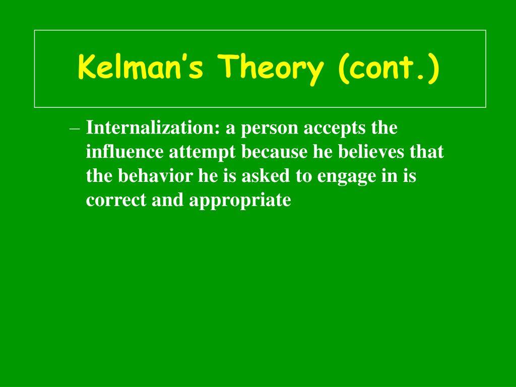 Kelman's Theory (cont.)