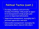 political tactics cont