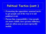 political tactics cont23