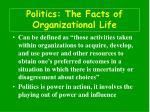 politics the facts of organizational life