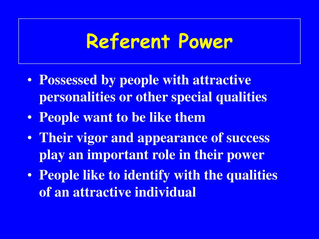 Referent Power