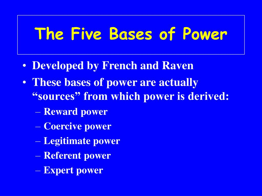 The Five Bases of Power