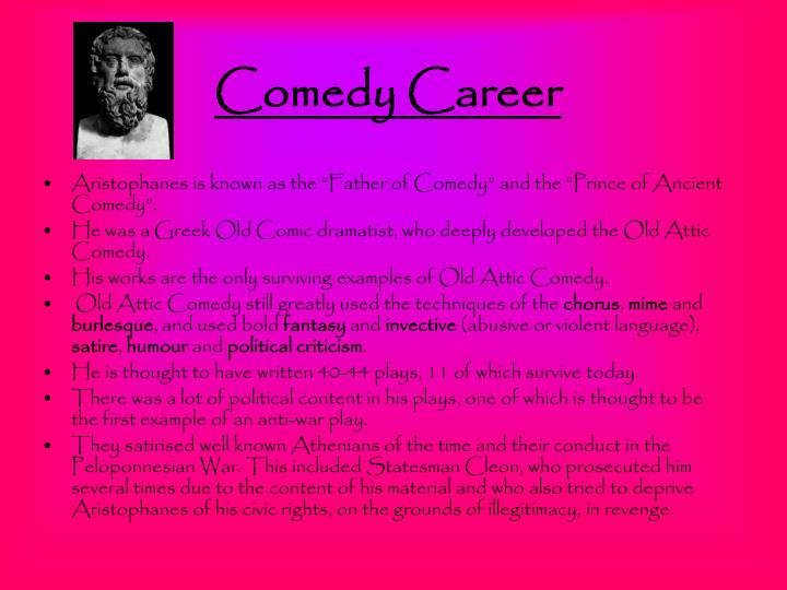 Comedy career
