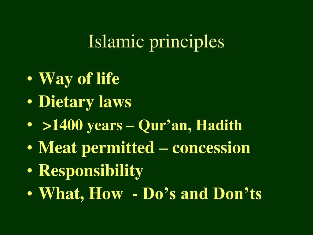 Islamic principles