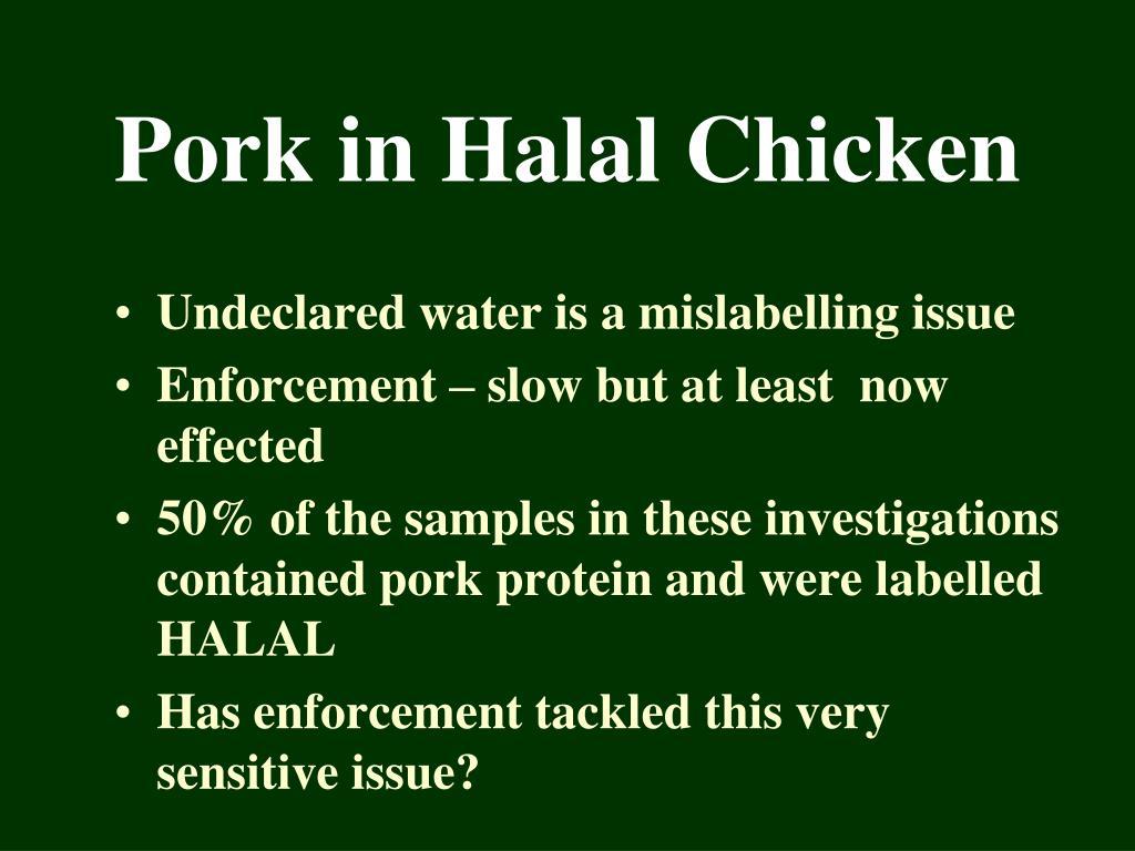 Pork in Halal Chicken
