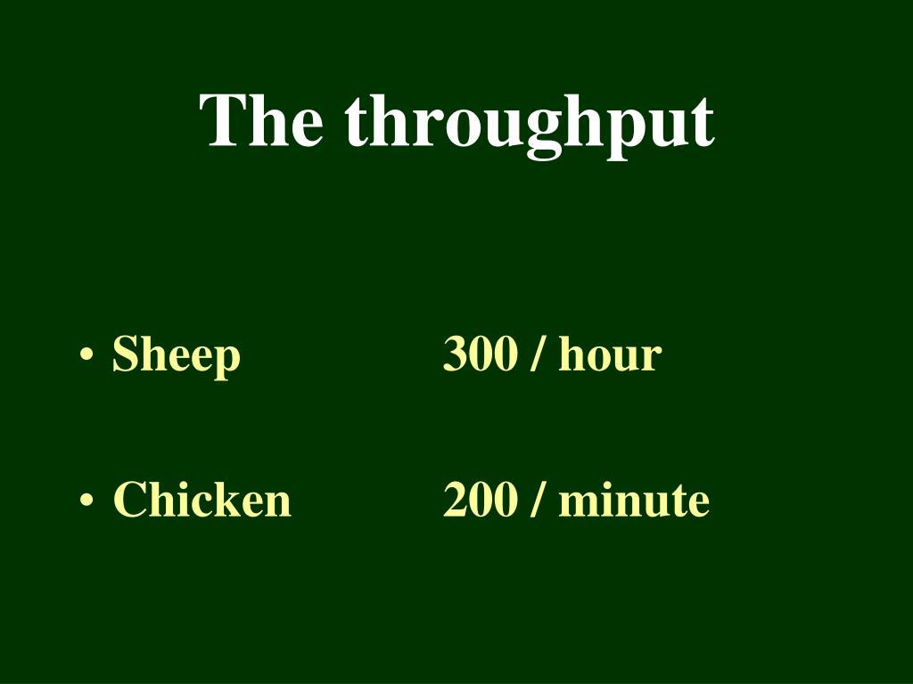 The throughput