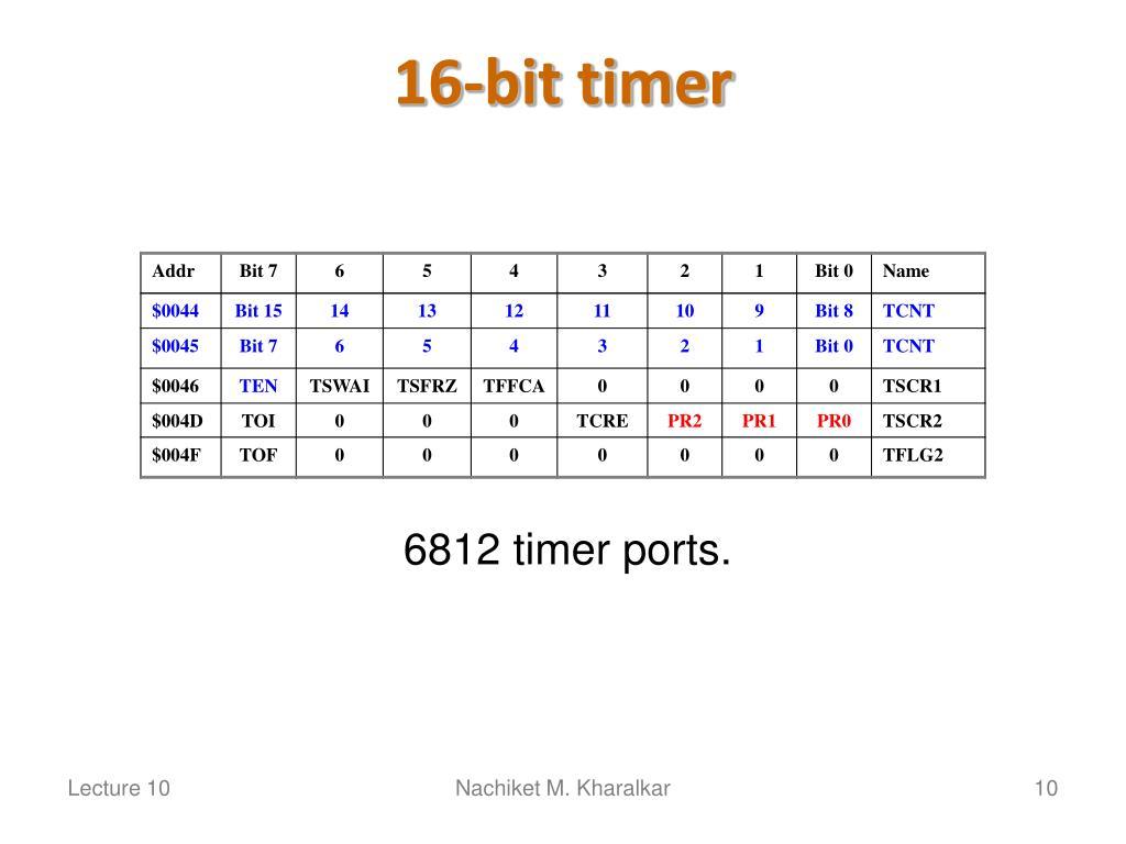 16-bit timer