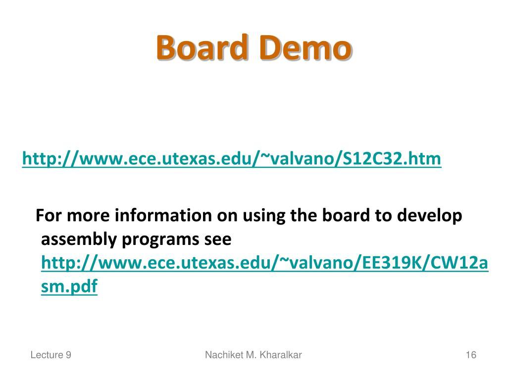 Board Demo
