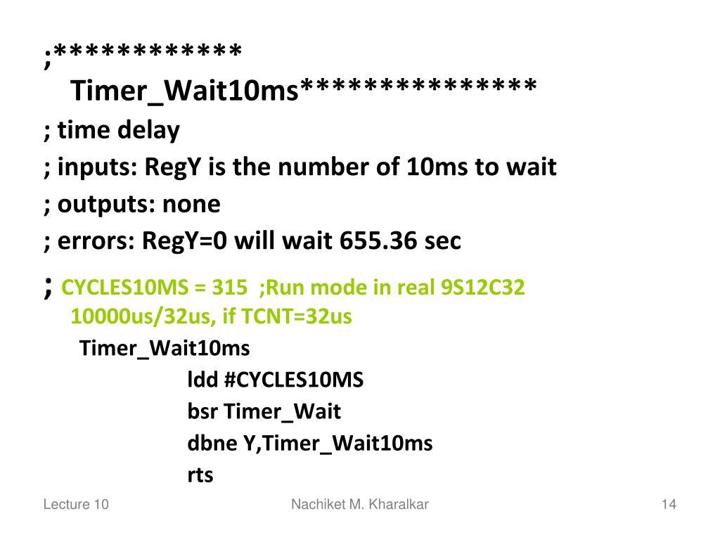 ;************ Timer_Wait10ms***************