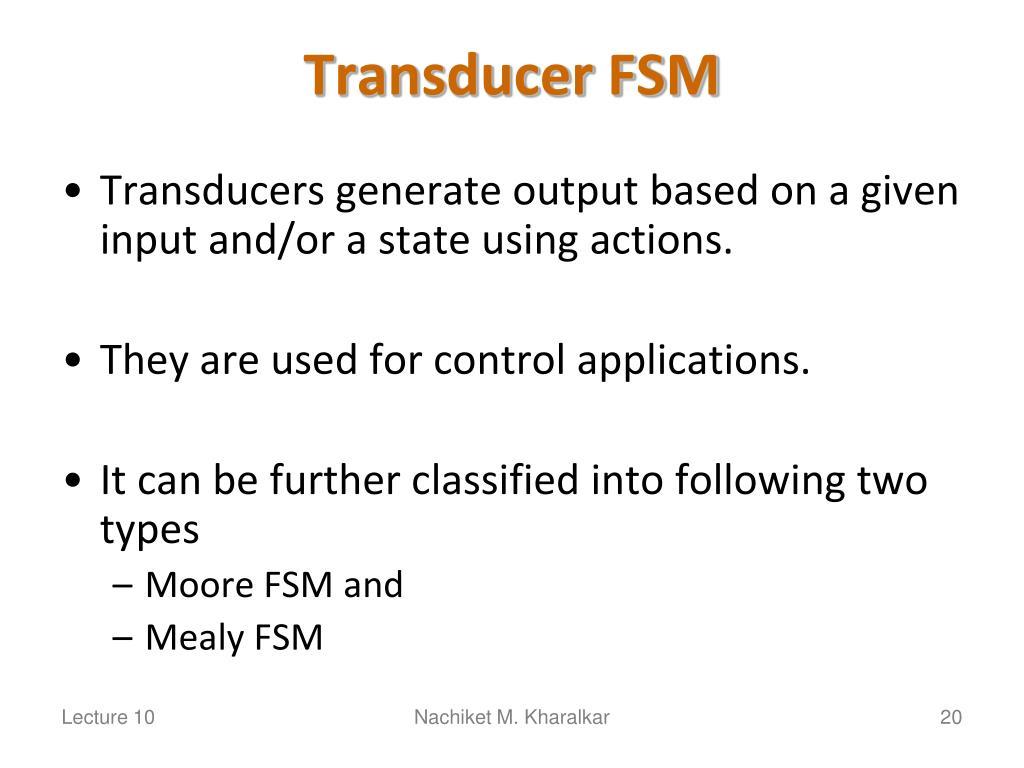 Transducer FSM