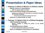 presentation paper ideas