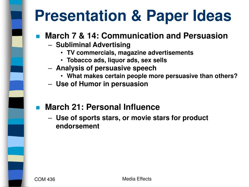 Presentation & Paper Ideas